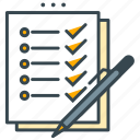 business, checklist, office, pen, portfolio, resume icon