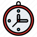 clock, material, office, time, work icon
