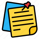 sticky, note, paper, file, document, reminder, notes