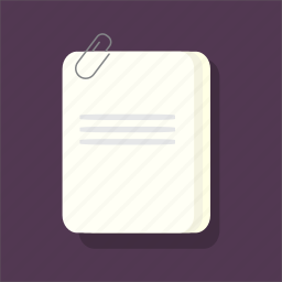 attach, attachment, document, file, interface, lines, text icon