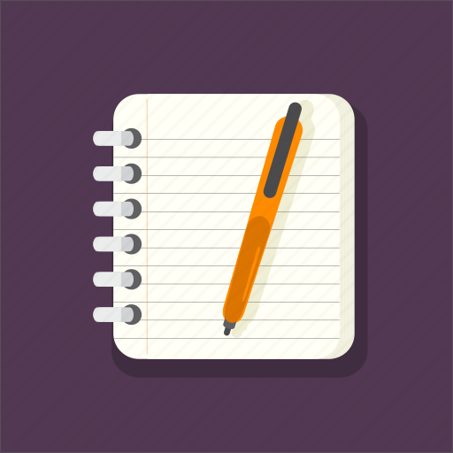 edit, lines, notebook, notepad, pencil, text, writing icon