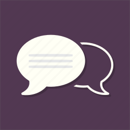 bubble, chat, comment, interface, social, speech, talk icon