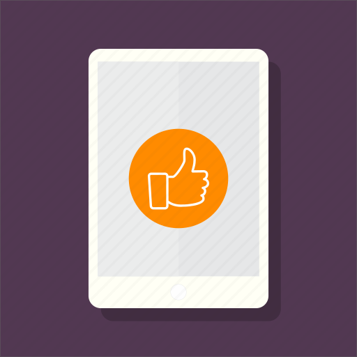 electronic, ipad, like, mockup, tablet, technology, touch icon