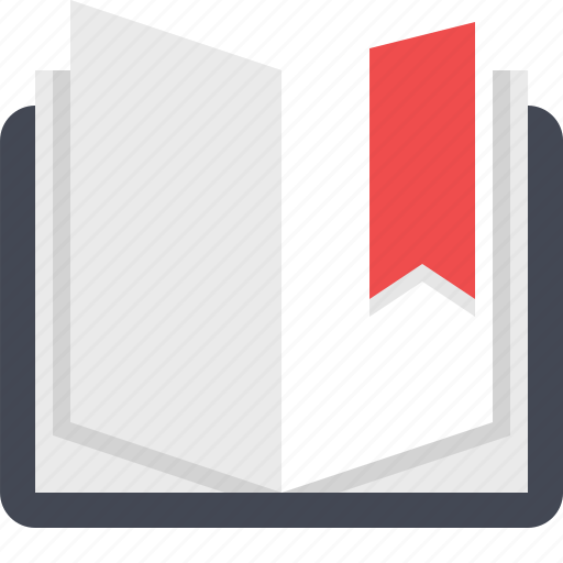 book, bookmarked, education, read, reading, school, study icon