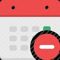 calendar, event, month, plan, reminder, remove, schedule icon