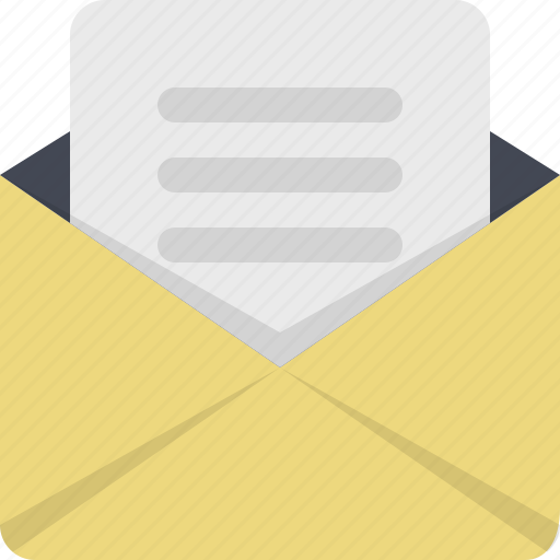 communication, email, envelope, letter, message, newsletter, post icon