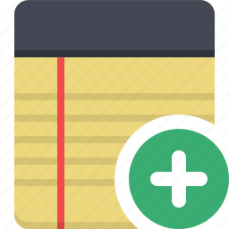 notebook, notepad, notes, to-do icon