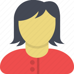 client, customer, female, girl, manager, user, woman icon
