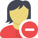 avatar, client, customer, female, girl, user, woman icon