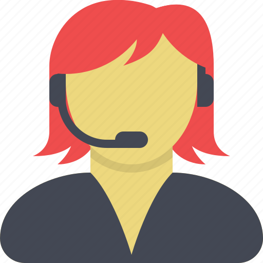 customer support, female, girl, sales, sales assistant, technical support, user icon