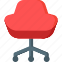 chair, furniture, home, interior, modern, office, work icon