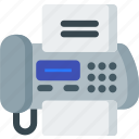 communication, fax, machine, office, phone, printer icon