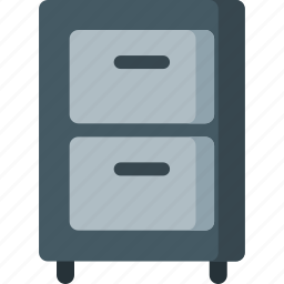 belongings, cabinet, drawer, drawers, furniture, office, storage icon