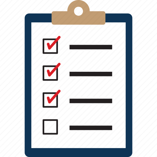 approved, checklist, clipboard, office, survey, ticks icon