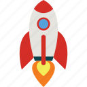 energy, fast, launch, office, project, rocket, spaceship icon