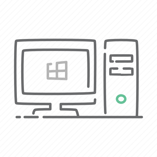 computer, desk, desktop, device, hardware, office, pc icon