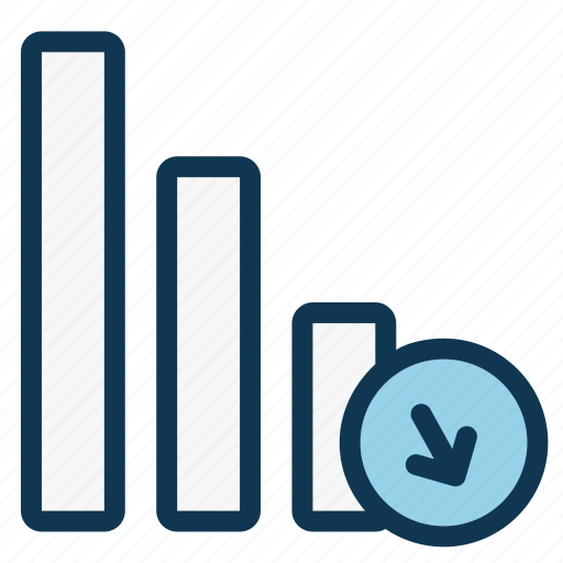 chart, data, diagram, finance, office, progress, usuccessful icon