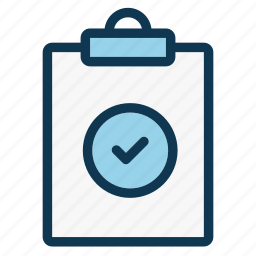 check, clipboard, document, education, information, notepad, office icon