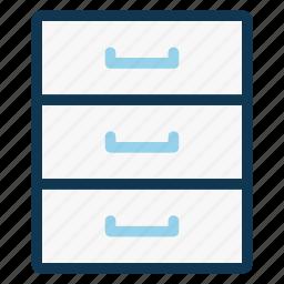 cabinet, cupboard, drawer, furniture, office, storage icon