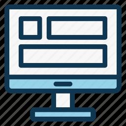 desktop, layout, monitor, office, pc, screen, website icon