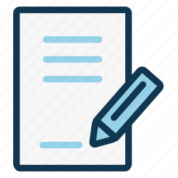 contract, document, file, office, paper, pencil, signature icon