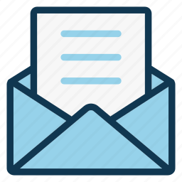 document, email, envelope, letter, mail, message, office icon