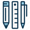 creative, drawing, liner, office, pen, pencil, stationery icon