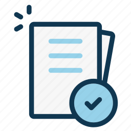 document, file, office, page, paper sheet, sheet, successful icon