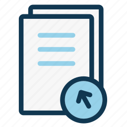 document, file, increase, note, office, page, sheet icon
