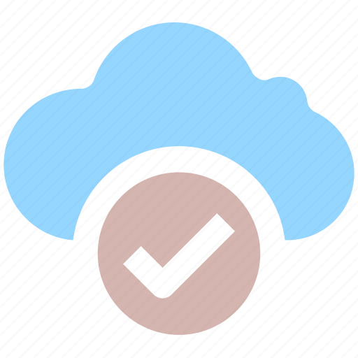 approved, cloud, cloudy, right, tik, weather icon