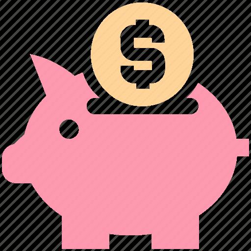 bank, money, piggy, piggy bank, saving icon