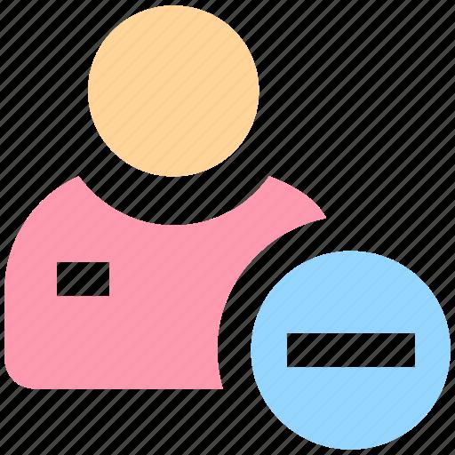 add, businessman, man, minus, people, user icon