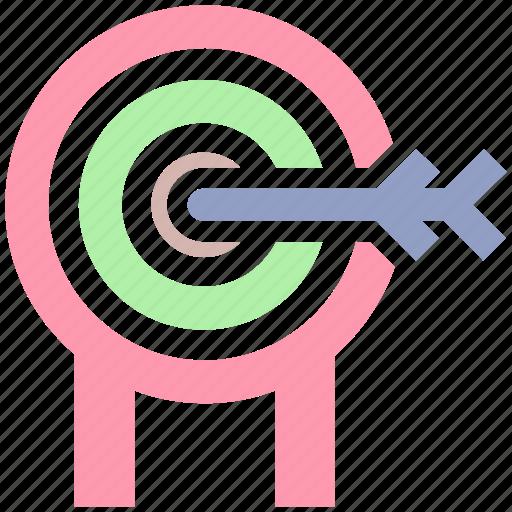 bulls eye, crosshair, dartboard, goal, target icon