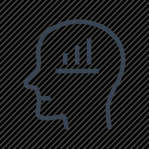 business, businessman, chart, head, statistics icon