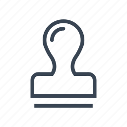 approved, office, rubber, stamp icon