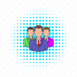 businessman, comics, consultant, people, person, team, teamwork icon