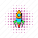 business, comics, rocket, ship, space, spacecraft, technology icon