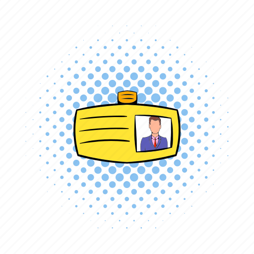 badge, card, comics, contact, identity, male, message icon