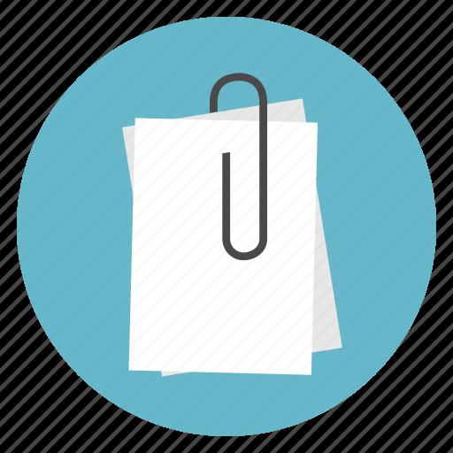 attach, attachment, papers icon