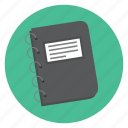 book, notes, organizer icon
