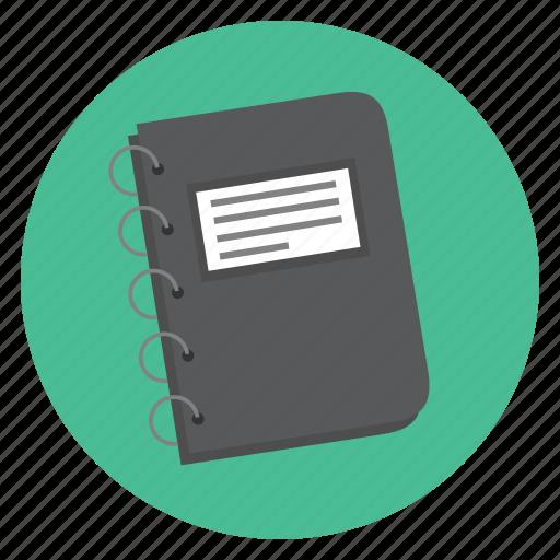book, notes, organizer icon