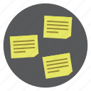 document, note, notes, office, paper, sticky notes