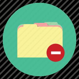 delete folder, erase, folder, remove icon