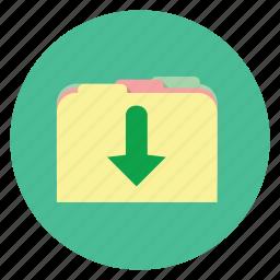 download, folder, save icon