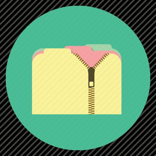 compressed, folder, zip icon
