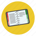 book, diary, education, knowledge, note, notes, organizer