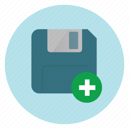 data, disk, floppy icon