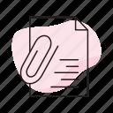 attach, attachement, clip, paperclip icon