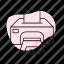 copier, laser, print, printer, printing icon