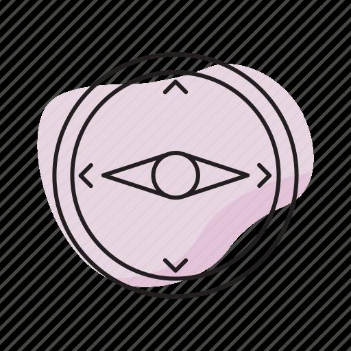 compass, orientation, success icon